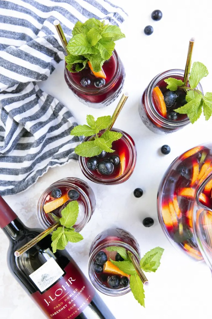 Blueberry Sangria made with Cabernet Sauvignon
