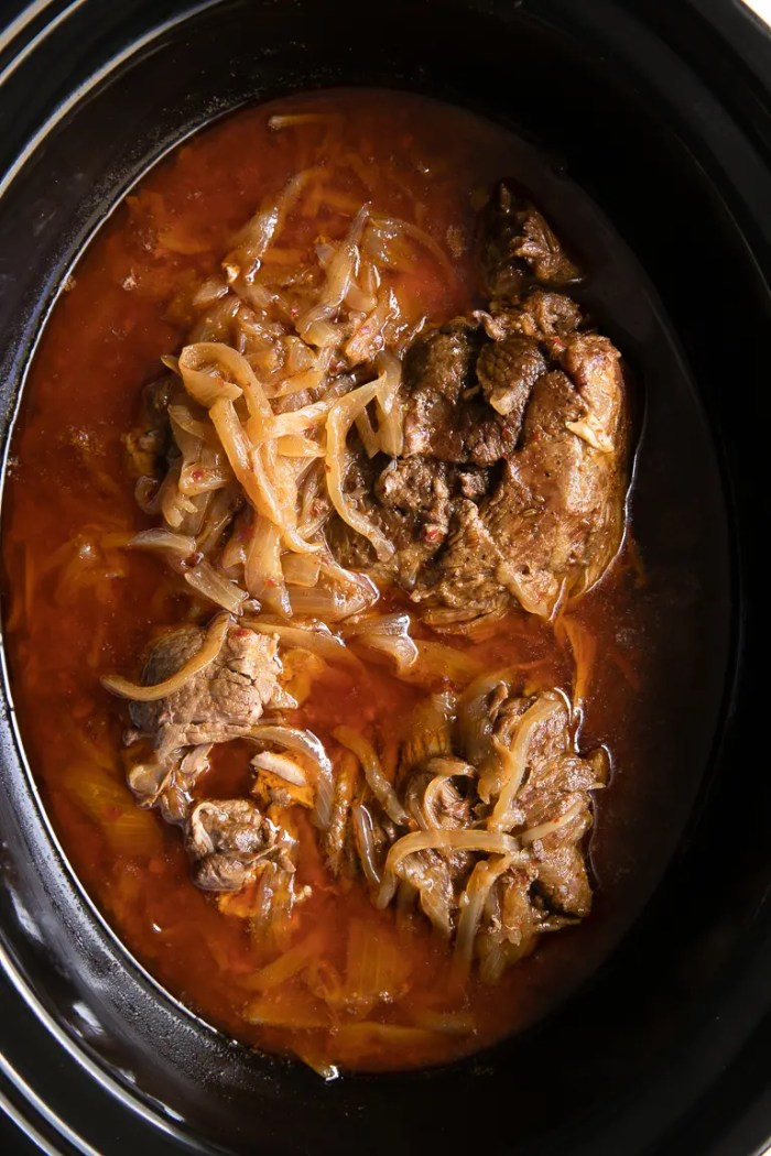 Slow Cooker Harissa Lamb with onions
