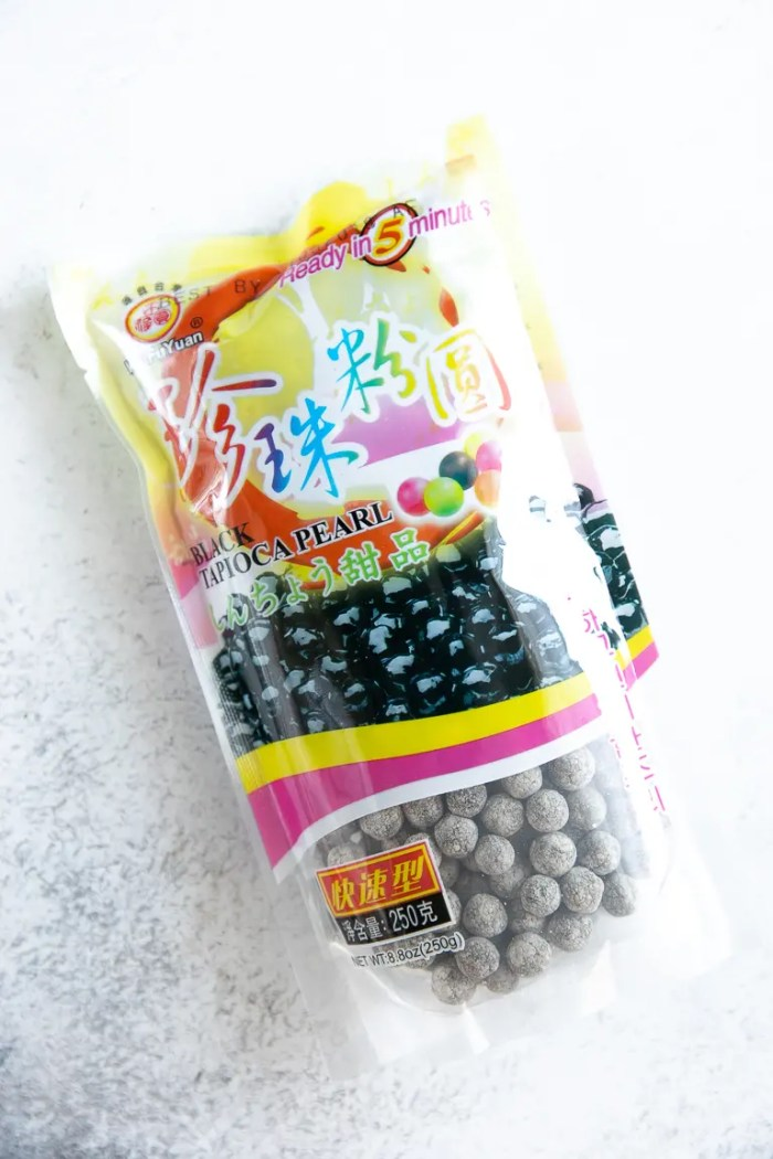 Bag filled with Black Tapioca Pearls