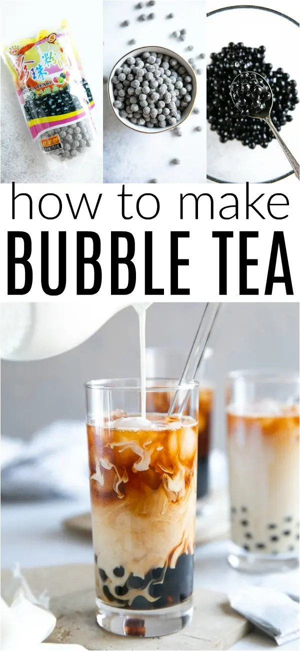 How to Make Bubble Tea (Bubble Tea Recipe) #bubbletea #milktea #blacktea #boba #tapiocapearls #tea #bubbletearecipe #drinkrecipe | For this recipe and more visit, https://theforkedspoon.com/bubble-tea/