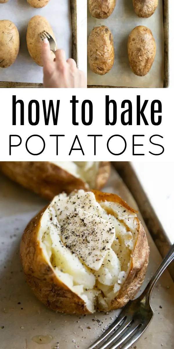 Perfect Baked Potato (How to Bake Potatoes) #potatoes #bakedpotatoes #siderecipe #howtobakepotatoes #bakedpotatorecipe