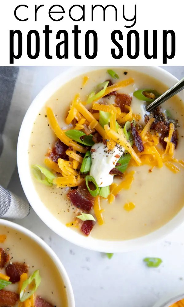 The Best Potato Soup Recipe #potatorecipe #potatosoup #creamypotatosoup #bakedpotatosoup #souprecipe #whitepotatoes
