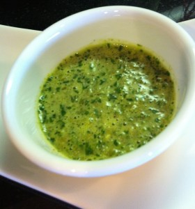 Green Skhug Sauce also called Yemenite Sauce