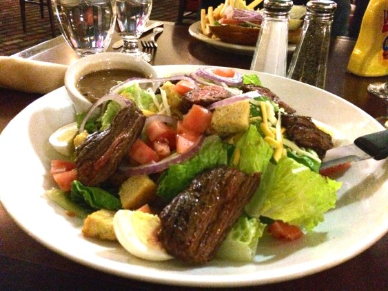 The Grille at the Reserve Embassy Suites Philadelphia Airport Steak Salad