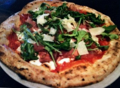 Salvatore Pizza- San Marzano tomatoes D.o.p., house made mozzarella, extra virgin olive oil, prosciutto di parma, arugula