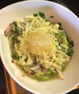 Zucchini Noodle, Cheddar and Finger Lime Salad
