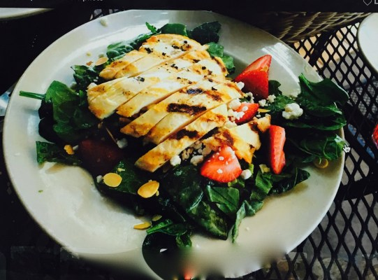 Cucina Tagliani Glendale AZ Strawberry and Goat Cheese Salad that includes Chicken
