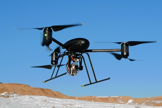 Drones are lately sparking more than just a privacy debate, as they enter restricted airspace and potentially physically endanger passengers flying in and out of airports like JFK and LaGuardia.  Photo courtesy of infowars.com