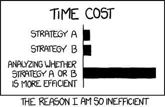 Product premature optimization
