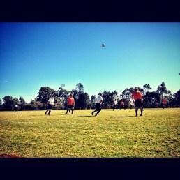 Watching boys play soccer, Sydney