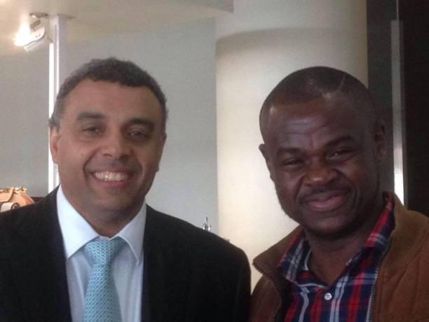 Archbishop Dag Heward Mills (left) and Larry Odonkor in happier times. Credit: Facebook/Larry Odonkor