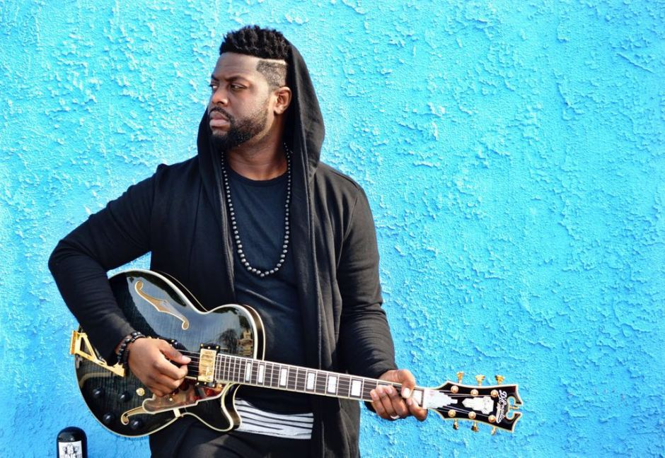 Kerry Marshall With Guitar in LA