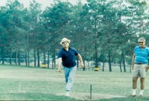 Horseshoes, picnic, 1988, Bill R, Paul F