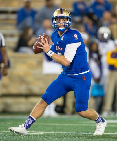 Tulsa quarterback Dane Evans was 22-of-38 for 274 yards with three TDs in the Golden Hurricane's 45-24 victory over East Carolina on Saturday night at H.A. Chapman Stadium. (PHOTO: TU media relations)