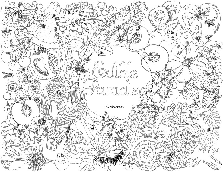 Edible Paradise_exclusive coloring page
