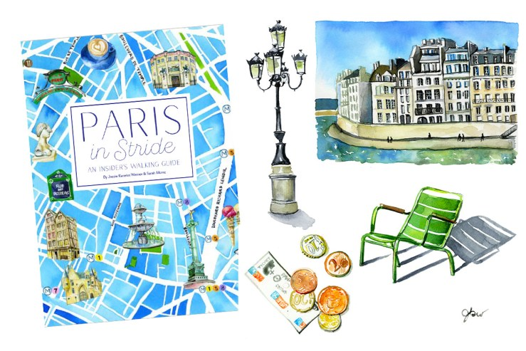 https://www.amazon.com/Paris-Stride-Insiders-Walking-Guide/dp/0847861252 available for preorder. Paris in Stride: An Insider's Walking Guide. American in Paris watercolor illustrator. Paris architecture illustration. Paris green chairs. American in Paris watercolor illustrator. Paris map illustration.  Best Paris expat blogs. Paris 75006 guide. walking guide book Paris, shakespeare and company. Paris lamp post. Paris watercolor illustrations
