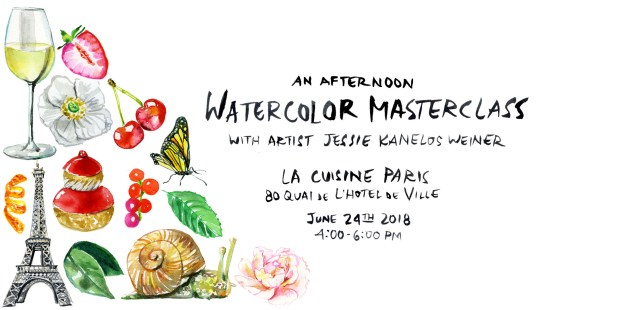 Watercolor workshop_Jessie Kanelos Weiner