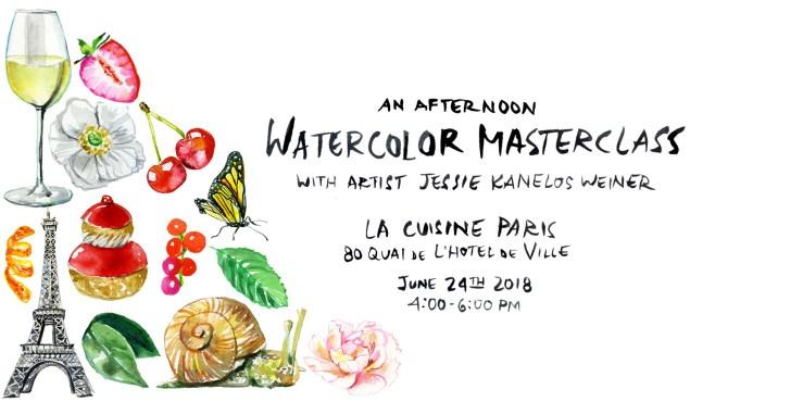 Watercolor workshop_Jessie Kanelos Weiner