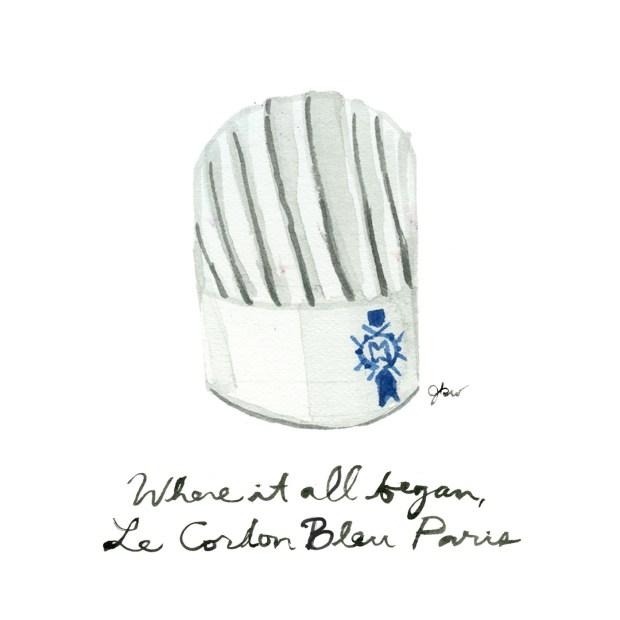 Julia Child's favorite places in Paris. Julia Child guide to Paris. Le Cordon Bleu alumni. Best culinary schools paris.