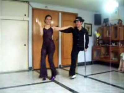 One legged salsa dancer