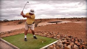 weird golf course