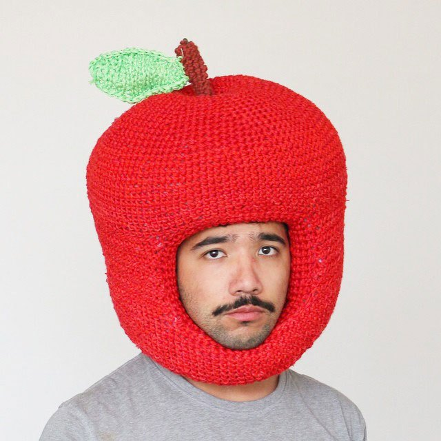 crochet-food-hat