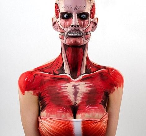 weird strange body painting