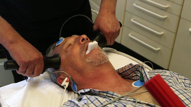 A patient receiving ECT