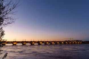 The bridge over rhe river Garonne