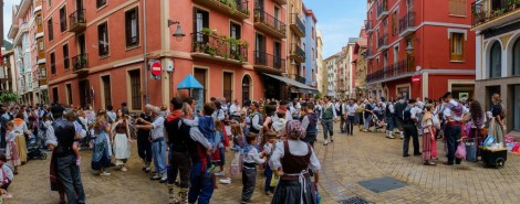Zarautz, the Basque festival.