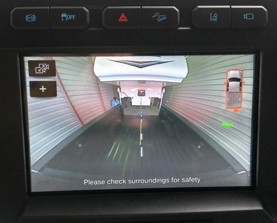 Top Center Brake Light Camera View
