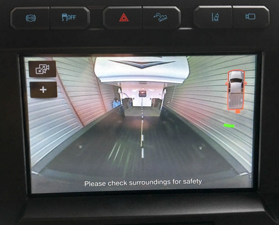 Top Center Brake Light Camera View