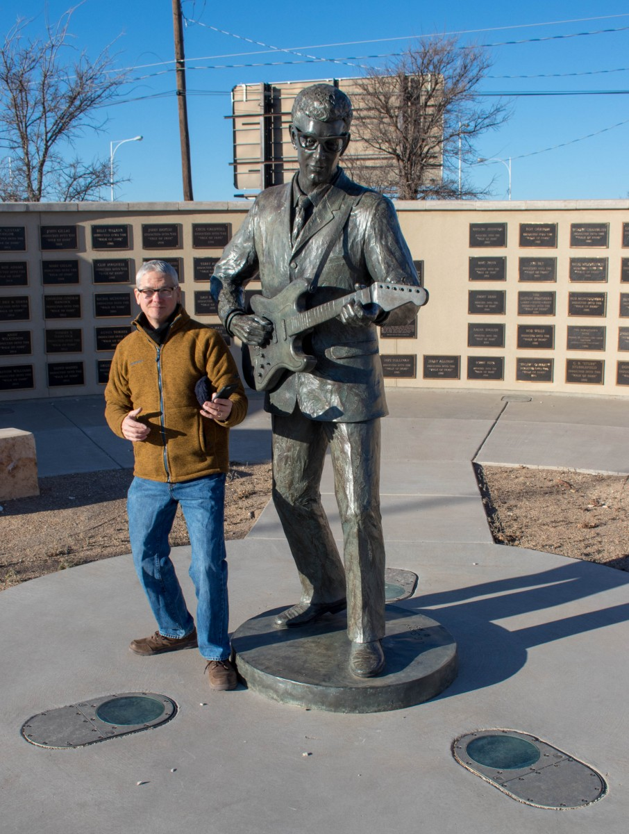 The Buddy Holly Statue