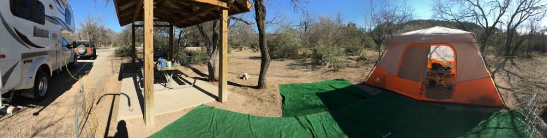 Near 360 Degree Campsite View