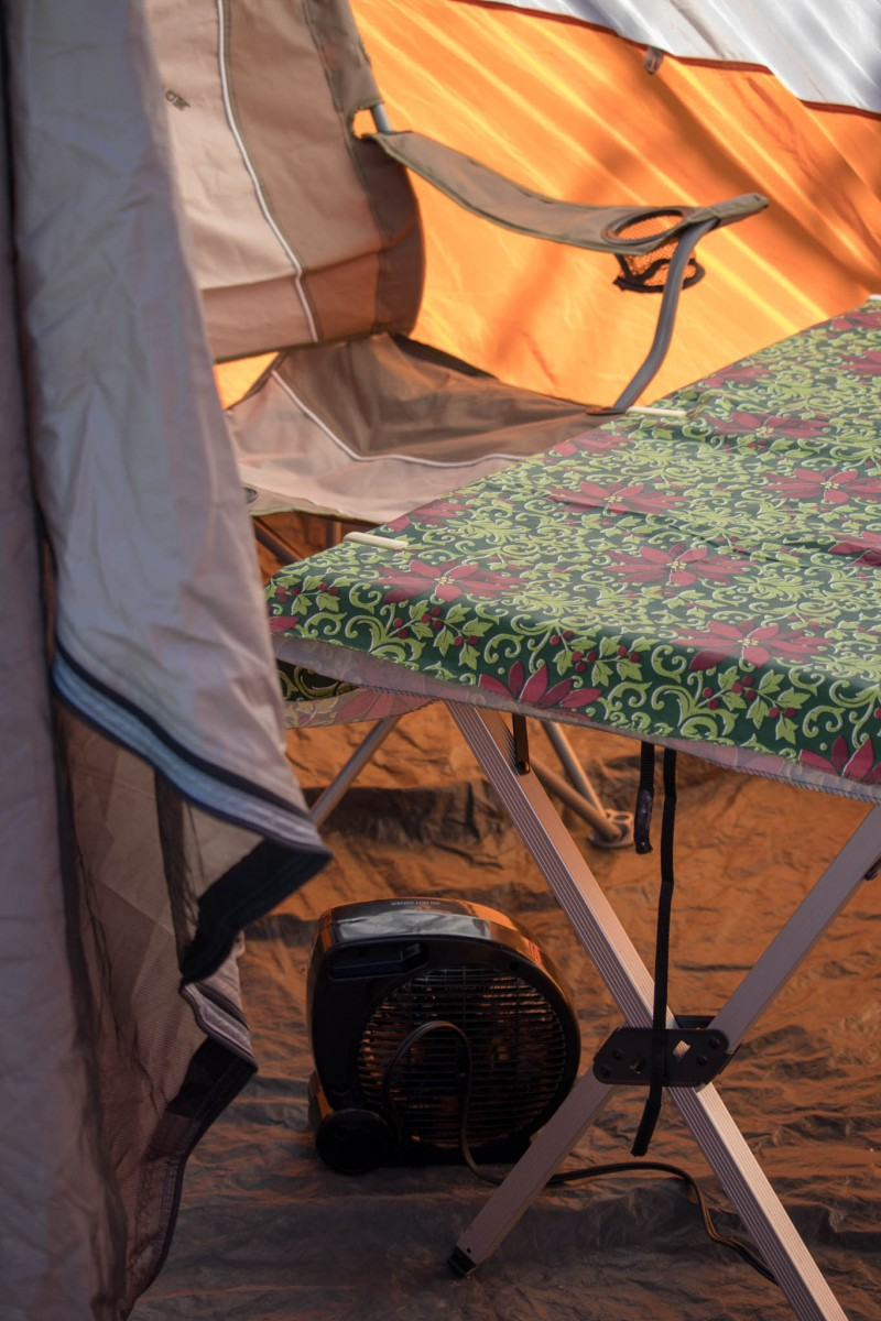 Tent With Electric Heat