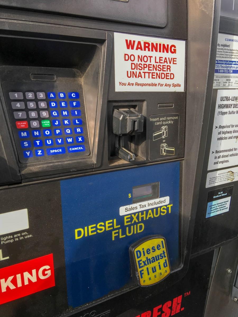 DEF Button Below Credit Card Reader