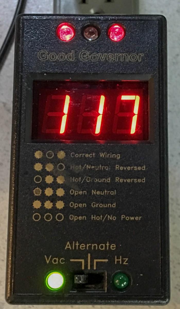 Good Governor AC Line Monitor/Polarity Tester