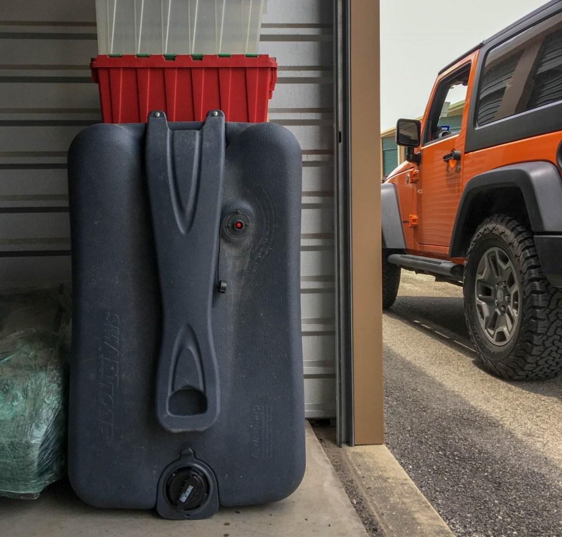 Portable RV Waste Water Tank at Storage Facility