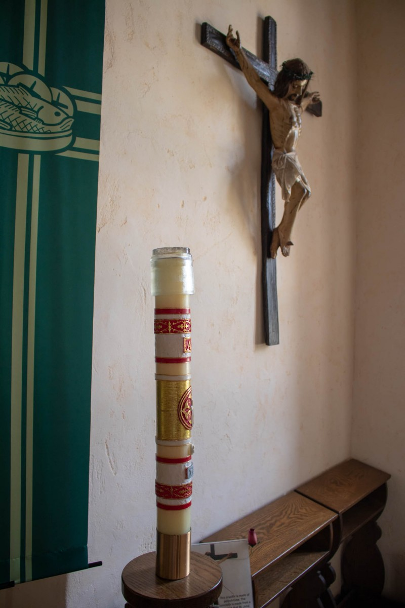 Easter Candle and Crucifix