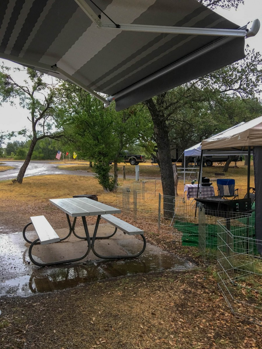 Rain Puddling in Campsite