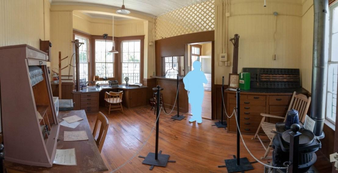 Kress Depot Office at The Lehnis Railroad Museum