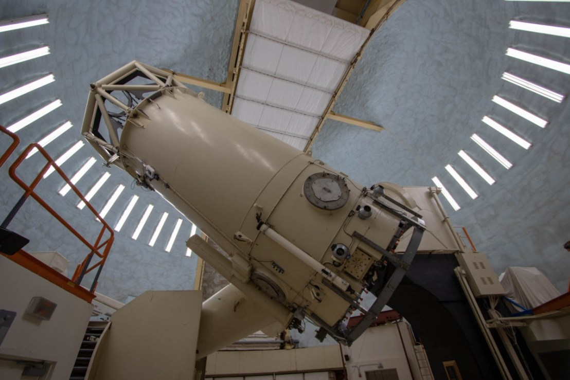 The Telescope Inside The Dome (Harlan J Smith Telescope)