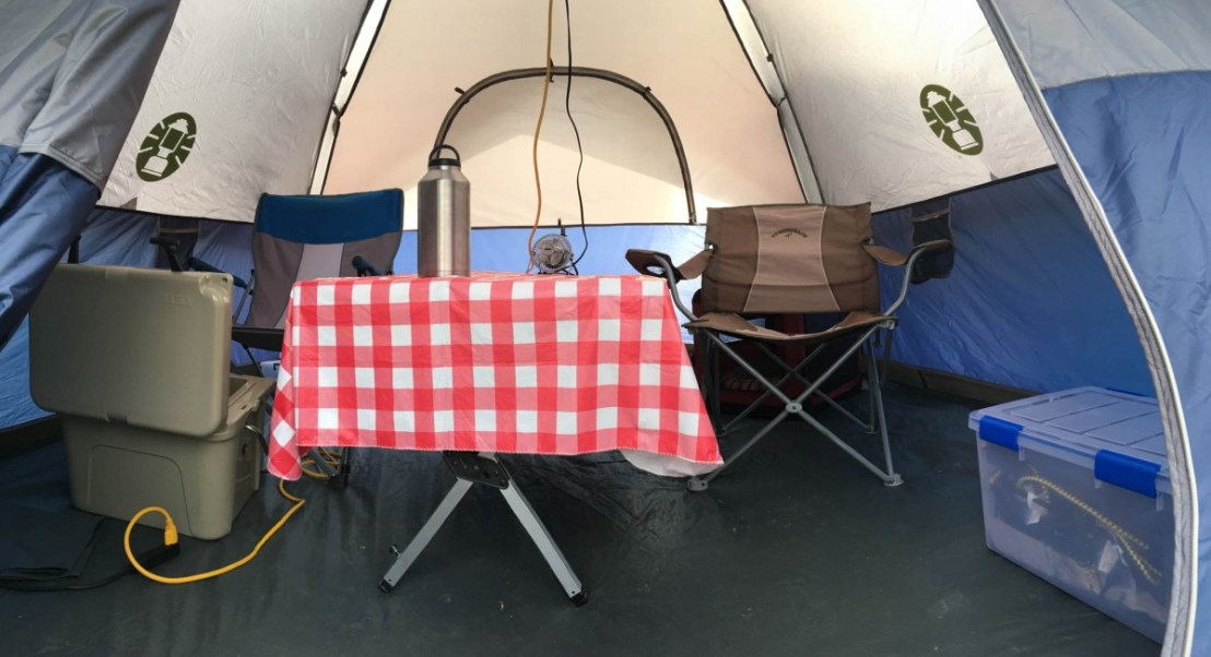 Tent Makes Additional Living Space