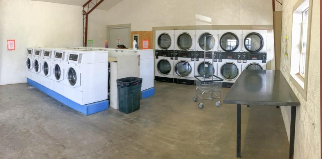 Inside the Davis Mountain Laundry