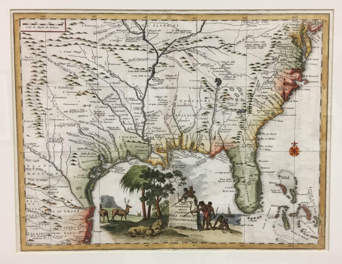 Giambattistas Albrizzi's Carta Geographica Dello Florida (1750)
