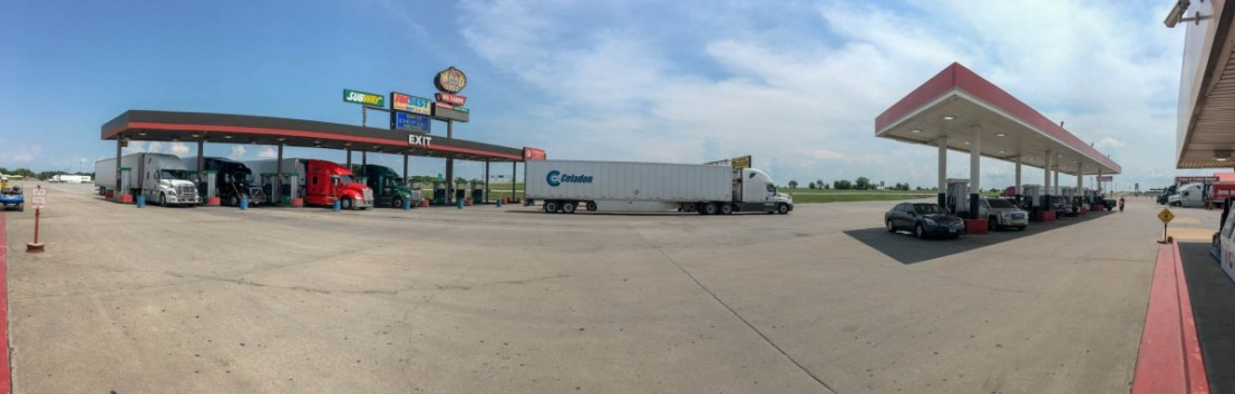 Busy-Busy Big Cabin Truck Stop Fuel Pumps