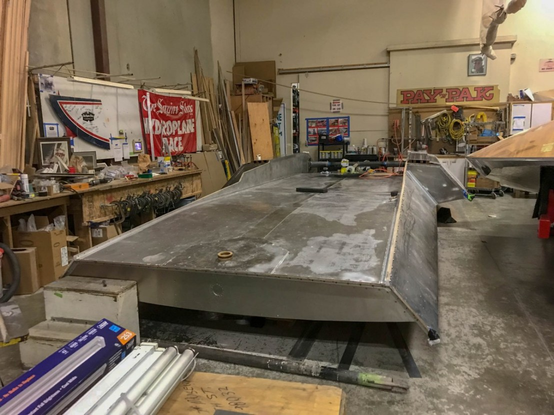 Hydroplane Replica Hull Under Construction