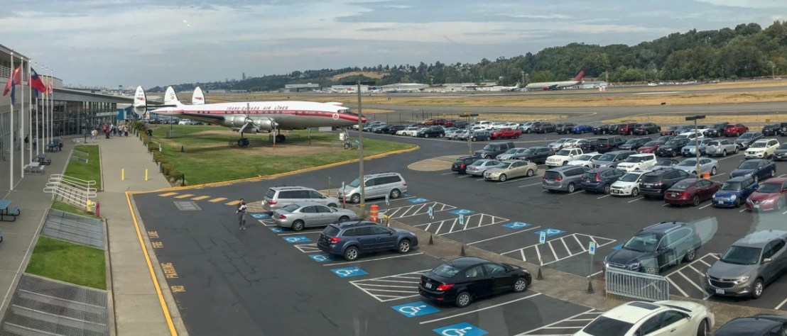 The Museum of Flight Entrance and Parking Lot