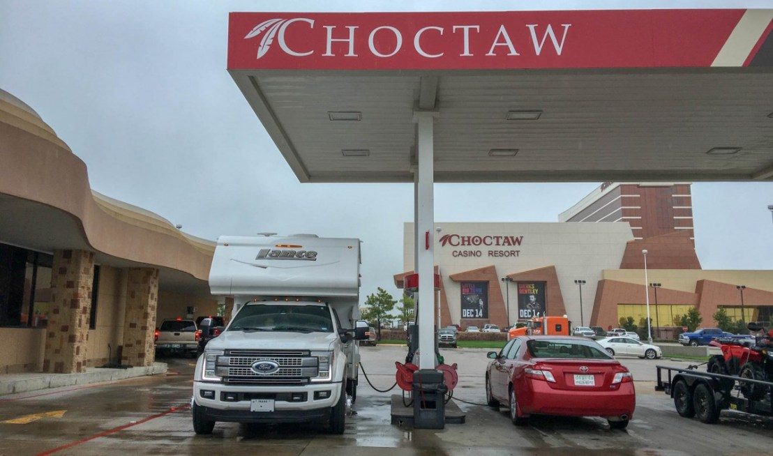 Durant Oklahoma Choctaw Casino Gas Station