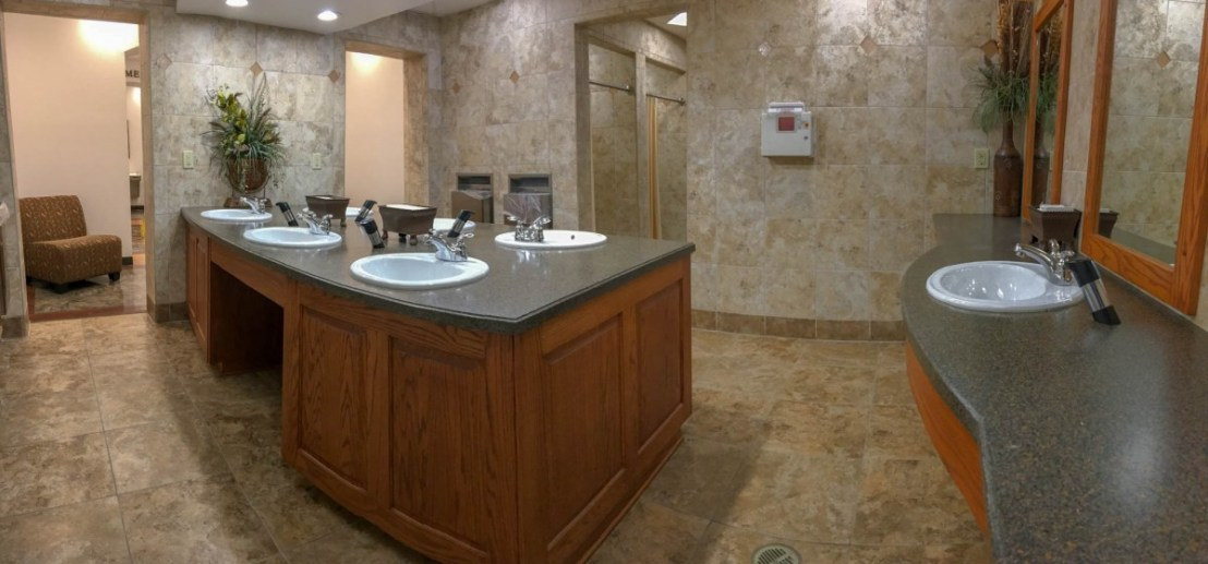 Men's Washroom at Durant/Choctaw Casino KOA